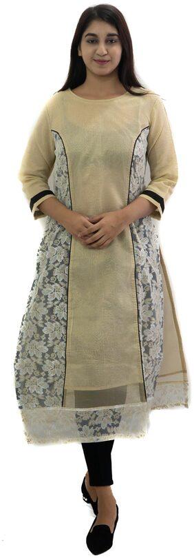 Manurath Women Textured Straight Kurta