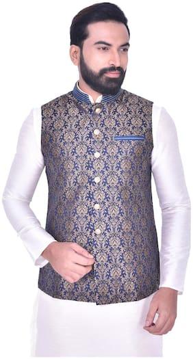 Men Solid Blended Ethnic Jacket Pack Of 1