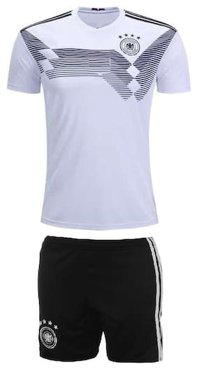 dcf0aa1a7 Marex Germany Home Football Jersey With Shorts - Ozil Written at Back