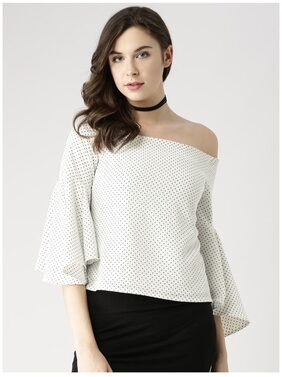 Marie Claire White Printed Top