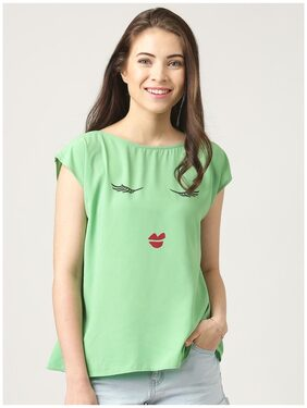 Marie Claire Green Printed Top