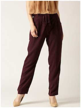 Marie Claire Women White Regular fit Cigarette pants