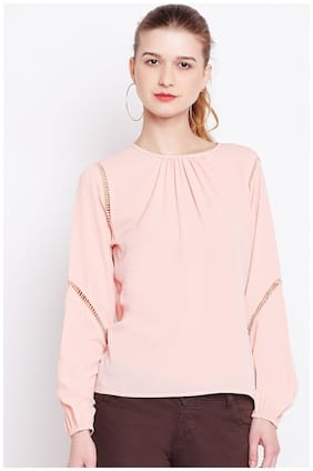 Marie Claire Women Solid A-line top - Pink