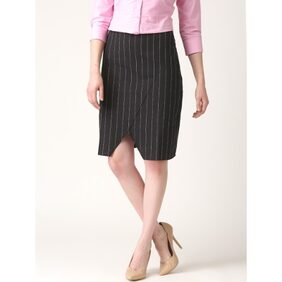 Marie Claire Black Striped Skirt