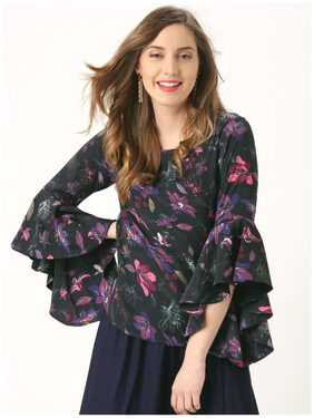 Marie Claire Black Printed Top