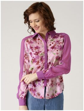 Marie Claire Pink Printed Shirt