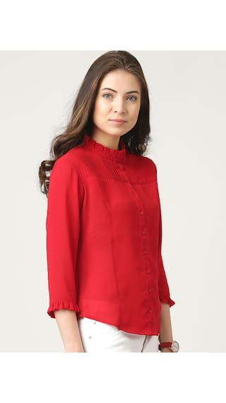 Shirt Marie Solid Marie Red Claire Claire 1wwv6q