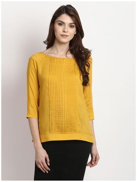 Marie Claire Women Yellow Solid Top