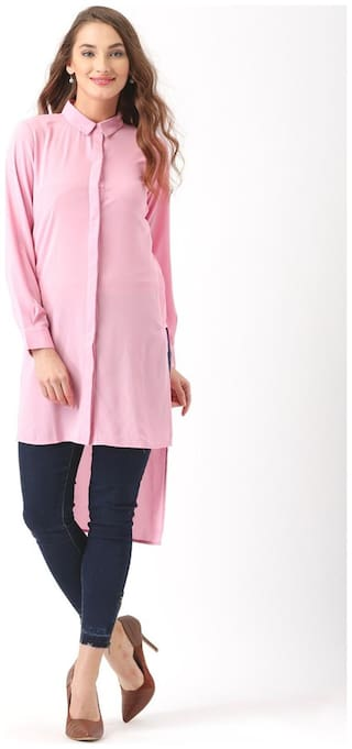 Marie Claire Pink Solid Shirt