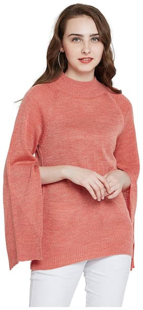 Marie Claire Women Solid Sweaters & Pullovers - Pink