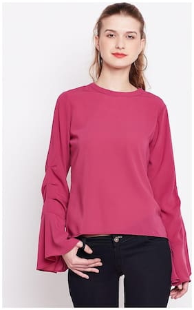 Marie Claire Women Rayon Printed - A-line top Pink