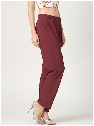Marie Solid Trousers Marie Claire Claire Wine RIwzq