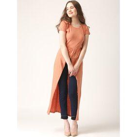 Marie Claire Orange Solid Top