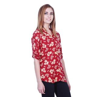 shirt print floral print floral tunic Maroon Maroon tunic tunic shirt Maroon floral print shirt floral Maroon wqgOEA6W0