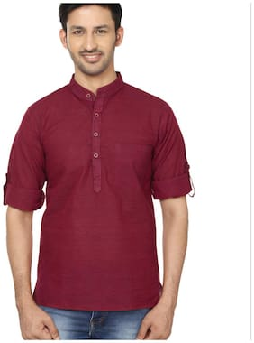 Men Striped Slim Fit Kurta
