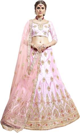 Silk Wedding Lehnga Choli ,Pack Of 1 Lehenga;1 Choli;1 Dupatta