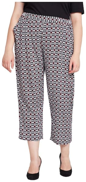 OXOLLOXO Women Regular Fit Mid Rise Printed Pants - Multi