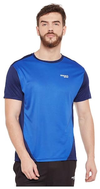 Masch Sports Men Round Neck Sports T-Shirt - Blue