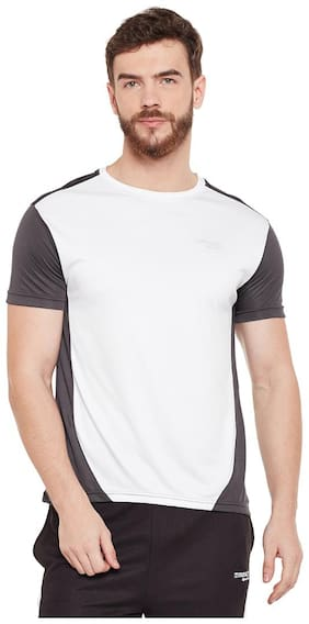Masch Sports Men Round neck Sports T-Shirt - White