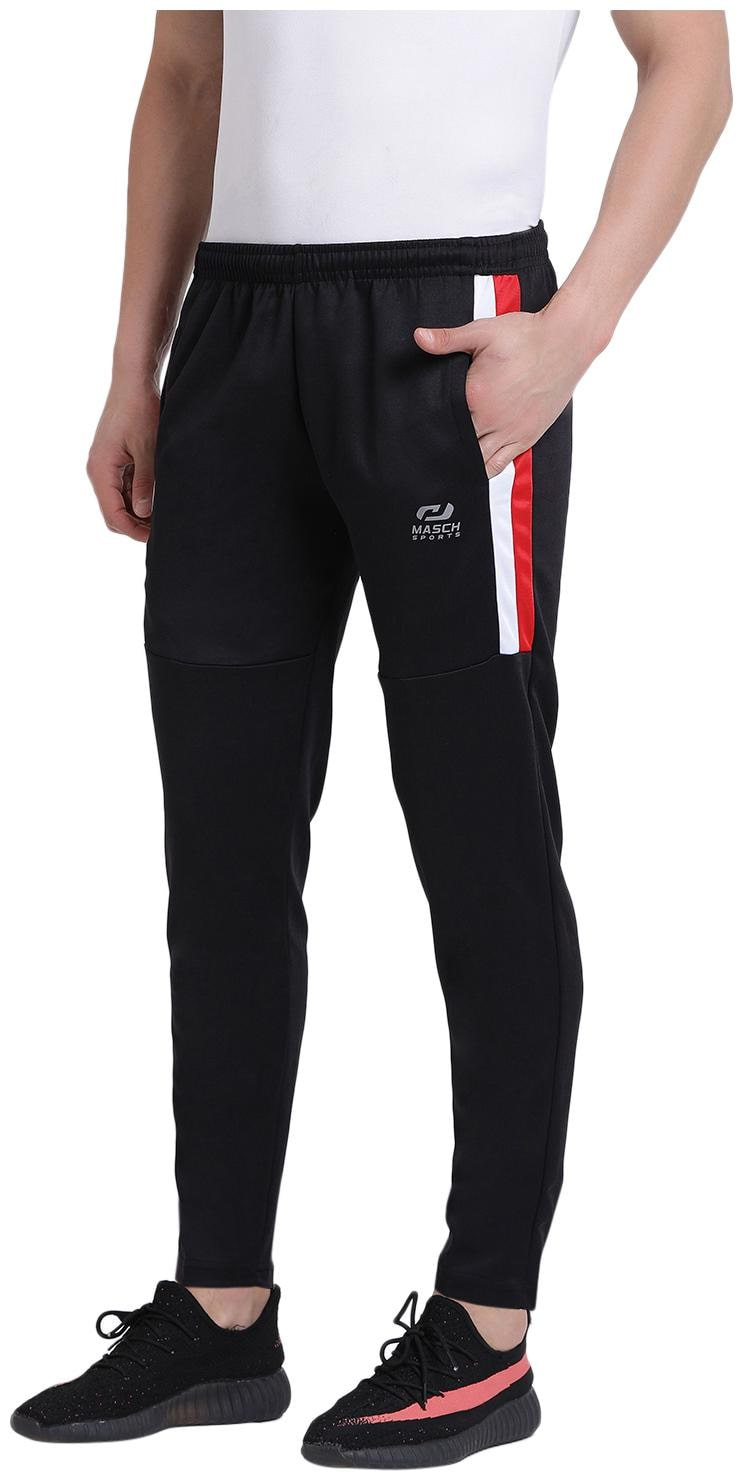 Masch Sports Mens Active Wear Regular-fit Lower with Elastic Waistband Casual Trouser...