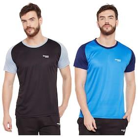 Masch Sports Men Round Neck Sports T-Shirt - Brown