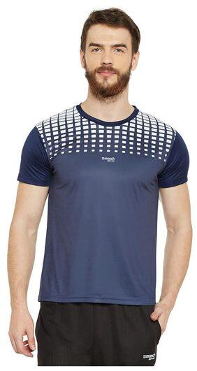 Masch Sports Men Round Neck Sports T-Shirt - Blue