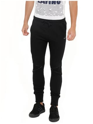 Masculino Latino Men Black Solid Regular fit Joggers