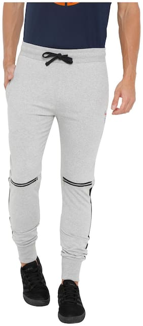 Masculino Latino Men Grey Solid Regular fit Joggers