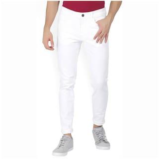 Masterly Weft Men White Slim Fit Jeans