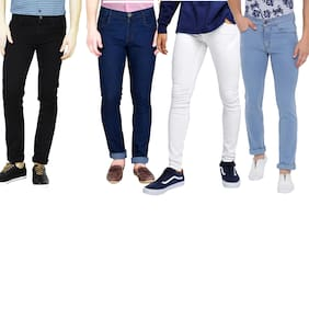 Men Slim Fit Mid Rise Jeans Pack Of 4