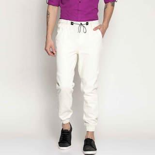 Masterly Weft Men White Jogger Jeans