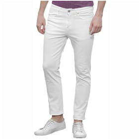 Masterly Weft Men White Slim Fit Jeans