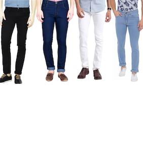 Masterly Weft Men Multi Slim Fit Jeans