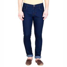 Masterly Weft Men Navy Blue Slim Fit Jeans