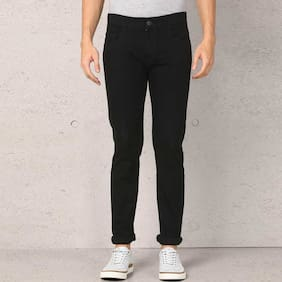 Masterly Weft Men Black Slim Fit Jeans