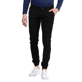 Masterly Weft Men Black Jogger Jeans