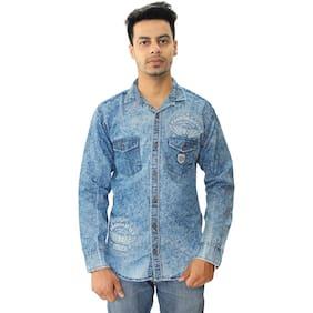 HAUTEMODA Men Regular Fit Casual shirt - Blue