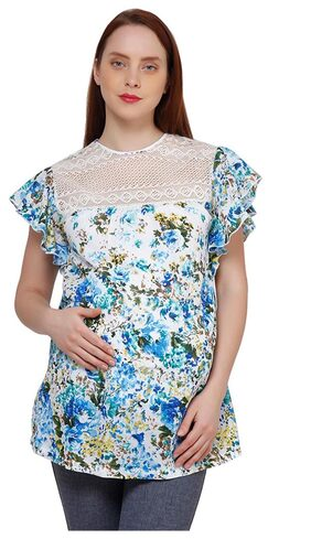 Maternity cotton mesh top