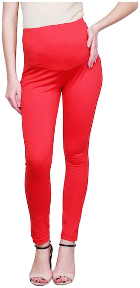 FINESSE MIRACLE CAMI Women Maternity Legging - Red M