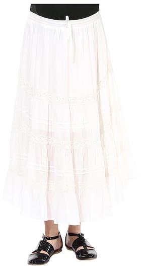 Maternity White Skirt