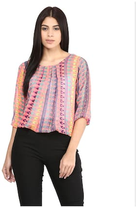 Mayra Women Striped Regular top - Multi