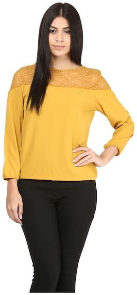 Mayra Women Solid Regular top - Yellow