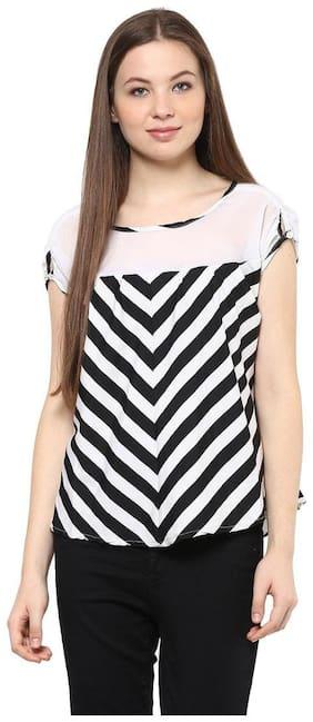 Mayra Women Striped Regular tunic - White
