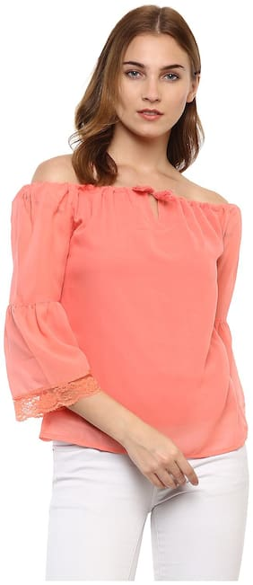 Mayra Women Solid Regular top - Pink