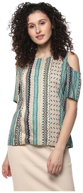 Mayra Women Polyester Solid - A-line top Multi