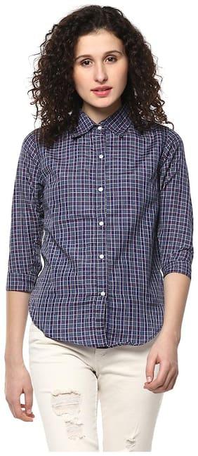 Mayra Women Regular fit Printed Shirt - Blue