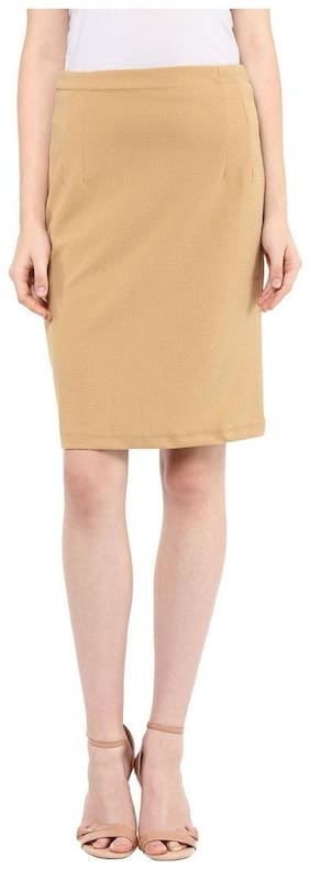 Mayra Women's  Polyster Stretch Skirt