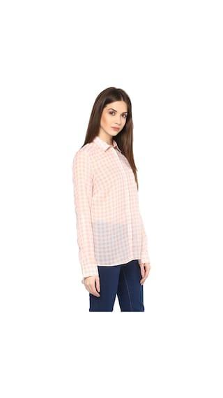 Cotton Check Print Women's Shirt Boyfriend Mayra 5q1AE7