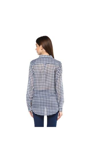 Boyfriend Cotton Mayra Check Shirt Women's Print qPxRIBw8