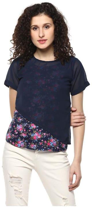 Mayra Women Floral Regular top - Blue